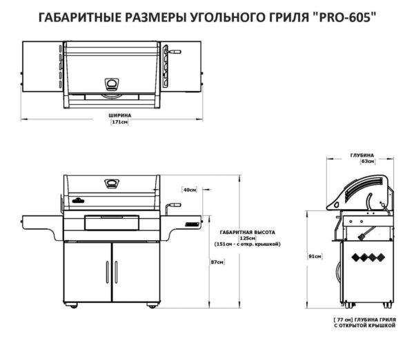 Гриль угольный Napoleon PRO-605
