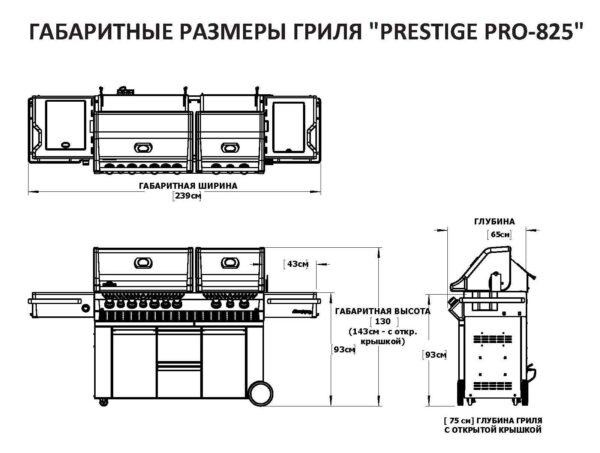 Гриль газовый Napoleon Prestige PRO-825