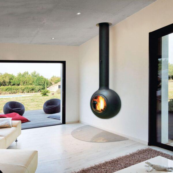 Камин Emifocus Porthole подвесной со стеклом