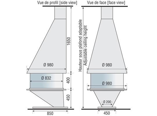 Камин BORDELET OCEA 911 Центральный
