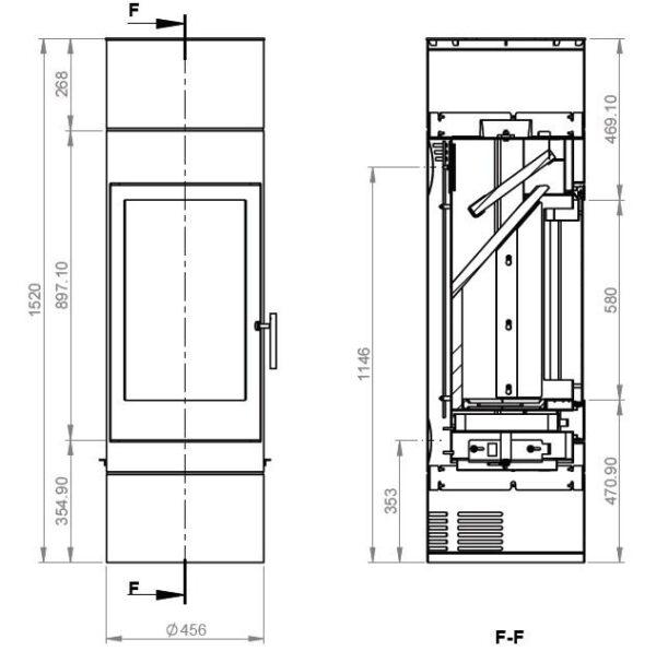 Дровяная печь EMBER София 552 XL