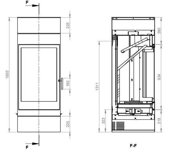 Дровяная печь EMBER София 552 XL+